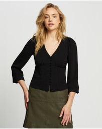 Dorothy Perkins - Button Long Sleeve Top