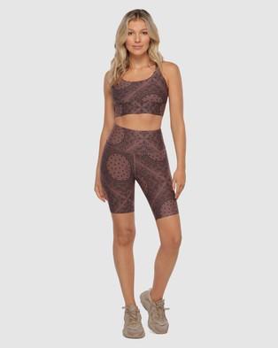 Lorna Jane Bandana Midi Bike Shorts - 1/2 Tights (Bandana Print)