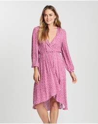 MINKPINK - Dusty Rose Midi Dress