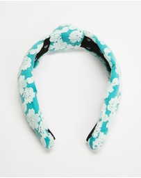 Lele Sadoughi - Floral Lace Knotted Headband