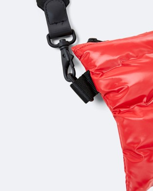 RAINS Puffer Pouch - Satchels (Shiny Red)