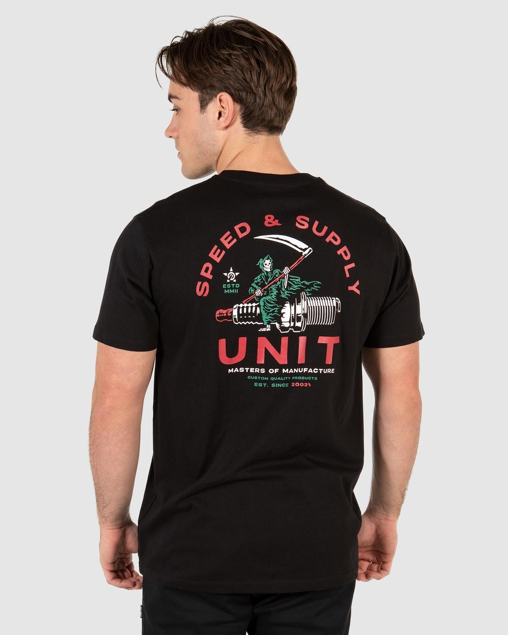 UNIT Spark Tee T-Shirts & Singlets BLACK