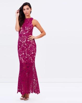 Romance by Honey and Beau – Lila Maxi Dress – Bridesmaid Dresses Fuchsia