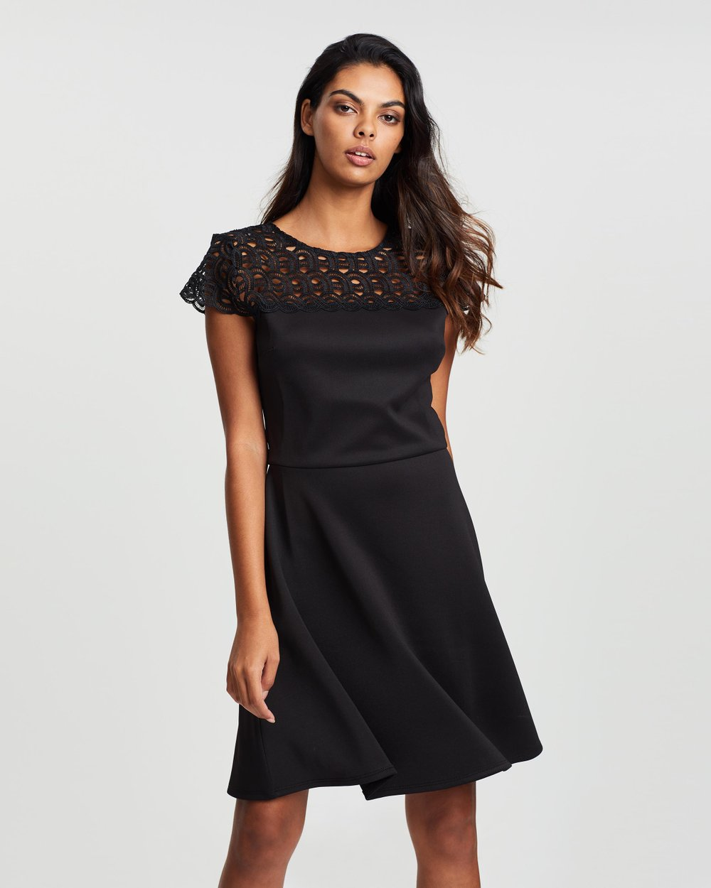 45d387716a8d Lace Top Skater Dress by Dorothy Perkins Online