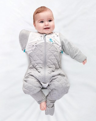 Love to Dream - SWADDLE UP?äó Transition Suit Warm 2.5 Tog - Sleeping bags (White & Moon Stars) SWADDLE UP?äó Transition Suit Warm 2.5 Tog