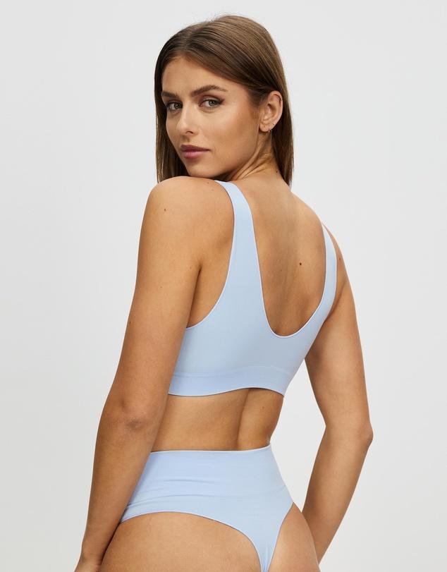 Women Semi Sheer Crop Top