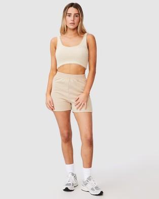 Factorie Hype Fleece Shorts - High-Waisted (Humus)