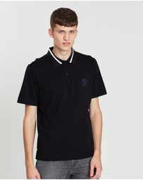 CERRUTI 1881 - Striped Collar Mercerized Cotton Polo
