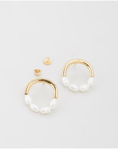 Saint Valentine Little Moon Earrings Gold