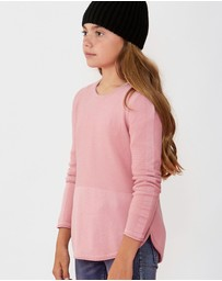 Decjuba Kids - Lily Curved Hem Jumper - Teens