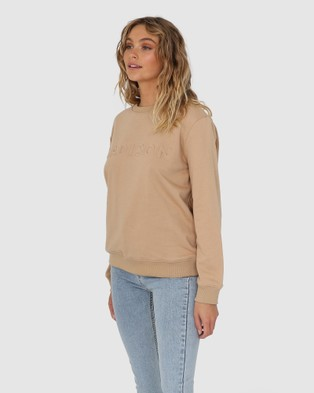 Madison The Label Madison Embossed Sweater - Sweats (Beige)