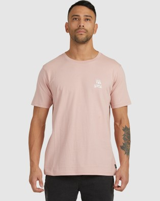 RVCA - Peace Out Short Sleeve Tee - T-Shirts & Singlets (PALE MAUVE) Peace Out Short Sleeve Tee