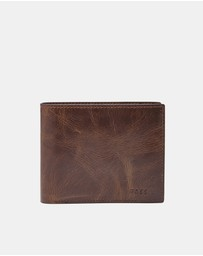 Fossil - Derrick Dark Brown Large Coin Pocket Bifold