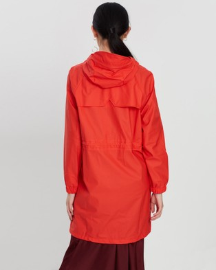 RAINS Long W Jacket - Coats & Jackets (Red)