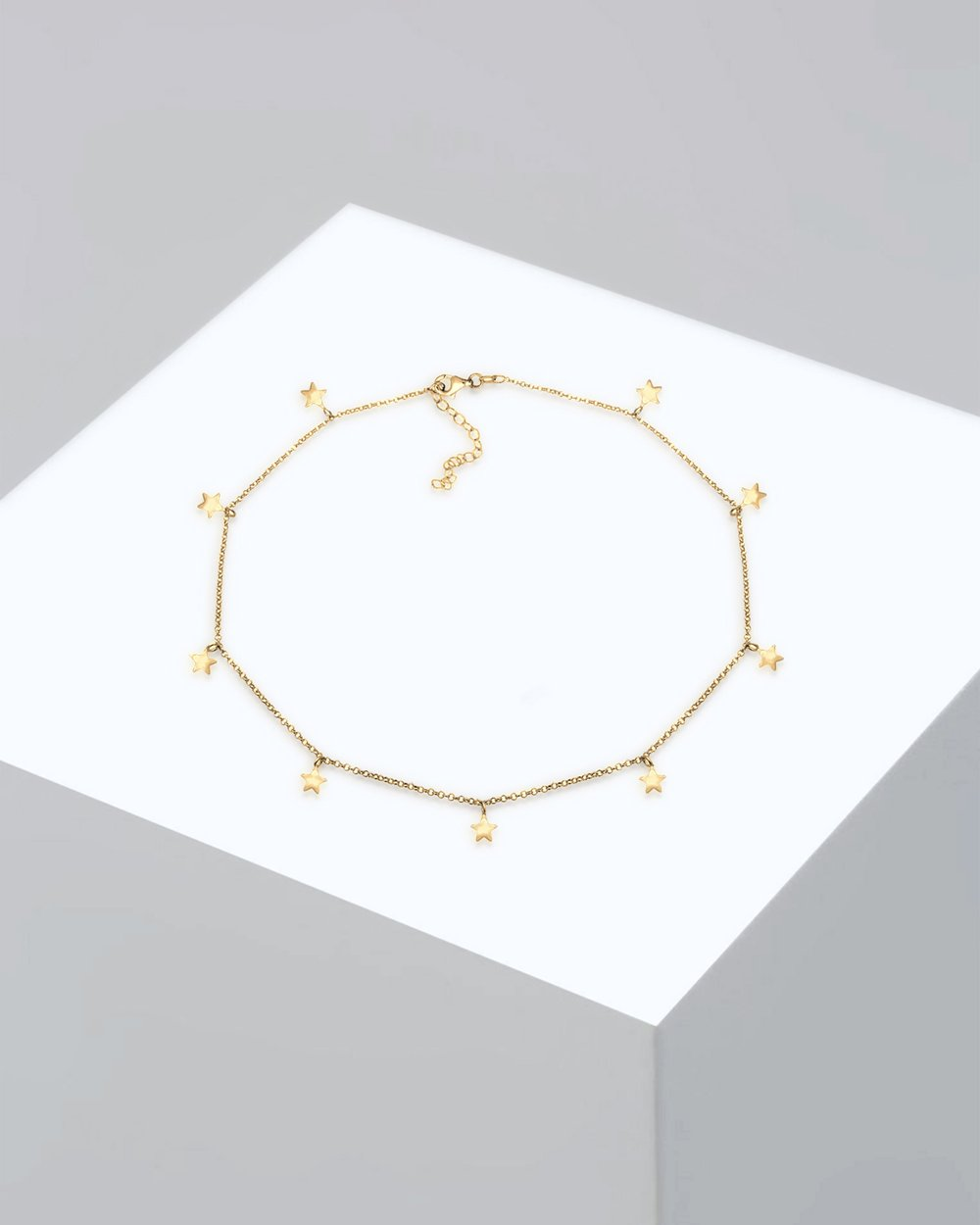 7614b30fc85c32 Necklace Women Choker Chain Star Astro Look Basic 925 Sterling Silver Gold  Plated by Elli Jewelry Online | THE ICONIC | Australia