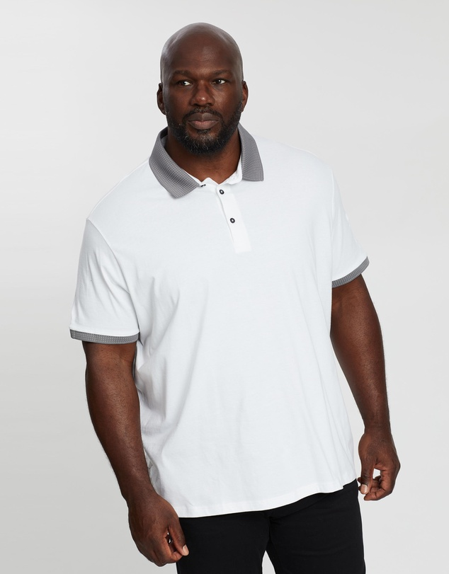 Burton Menswear - Big & Tall Jacquard Polo Shirt