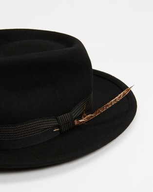 Brixton Swindle Fedora - Hats (Black)
