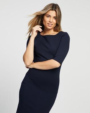 Atmos&Here Essential Stretch Dress - Bodycon Dresses (Navy)