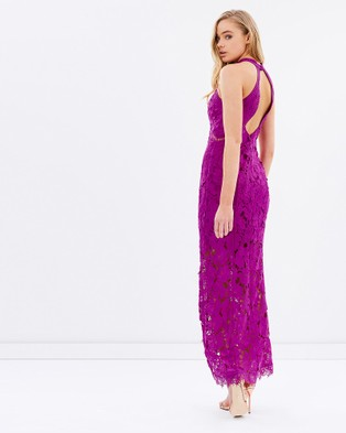 Romance by Honey and Beau – Love Lace Maxi Dress – Dresses (Magenta)