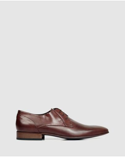 Brando Stuart Leather Derby Shoes Gianduia
