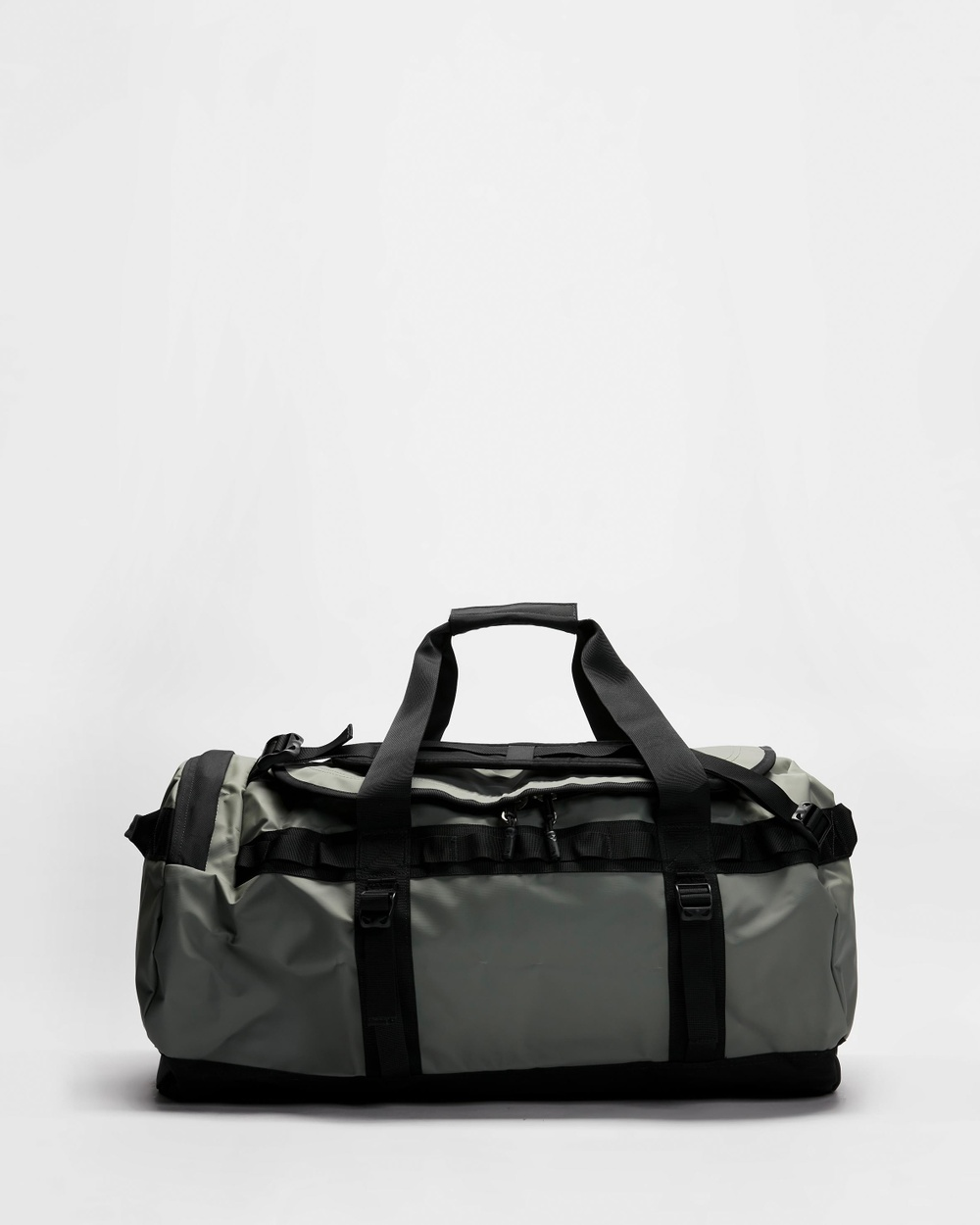 The North Face Base Camp Duffel Bag M Duffle Bags Agave Green & Black