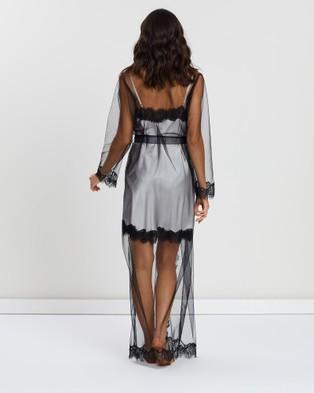 Sainted Sisters Olivia Long Wrap Gown - Sleepwear (Black)