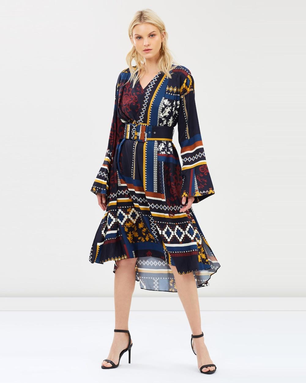 House of Dagmar Scarf Print Josephine Dress