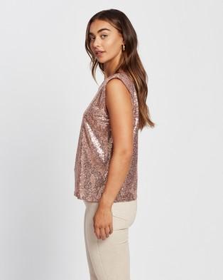 M.N.G Lentepad T Shirt - Tops (Light Pastel Pink)