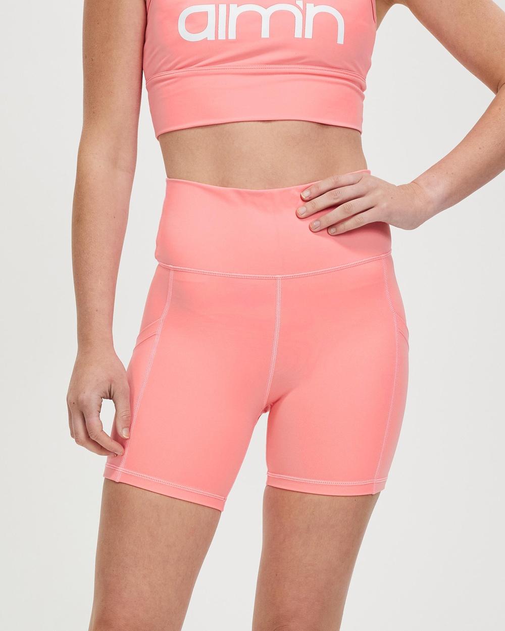Aim'n Ball Pocket Biker Shorts 1/2 Tights Coral