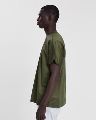 CERRUTI 1881 - Shoulder Lining Oversized T shirt T-Shirts & Singlets (Olive) T-shirt