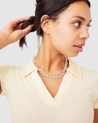 Cotton On Tori Polo Midi Dress - Bodycon Dresses (Sea Shell White)