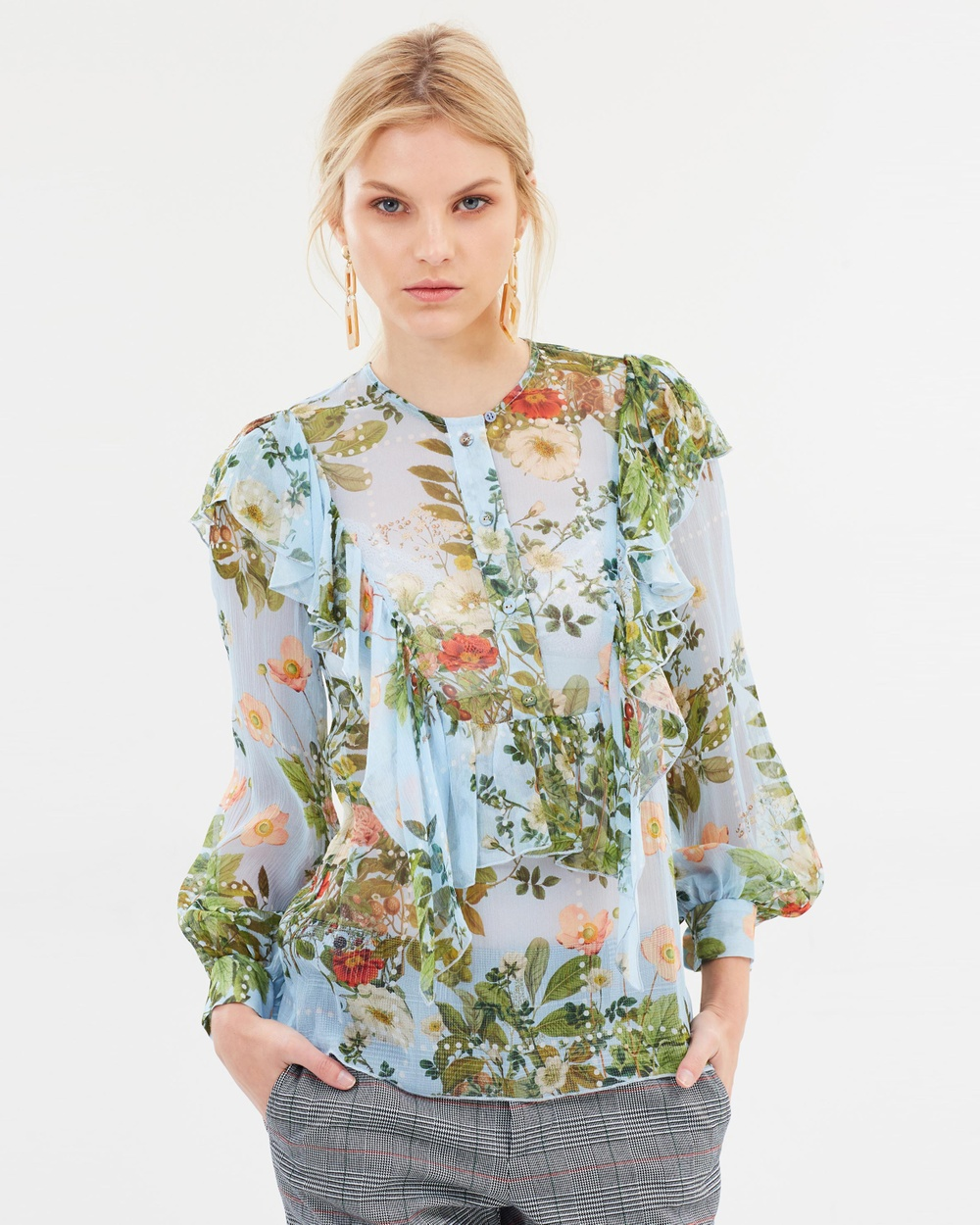 Karen Walker Whimsy Shirt Tops Blue Multi Whimsy Shirt