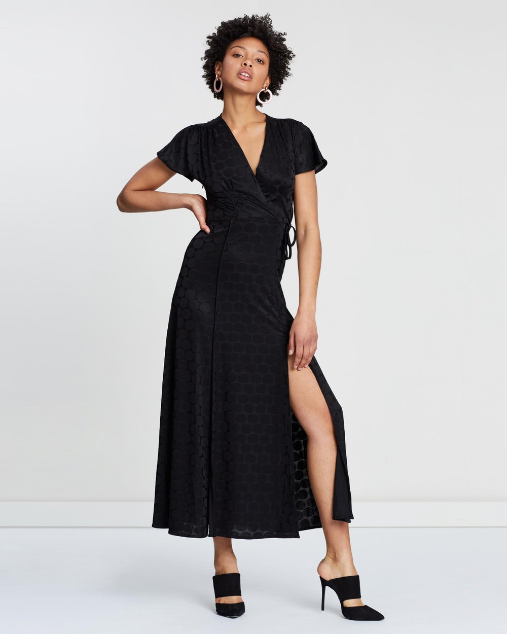 3fd2cfb5796 Kandi Polka Jacquard Maxi Dress by French Connection Online   THE ICONIC    Australia