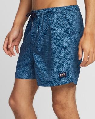 Ben Sherman Scale Geo Swim Shorts - Swimwear (Navy)