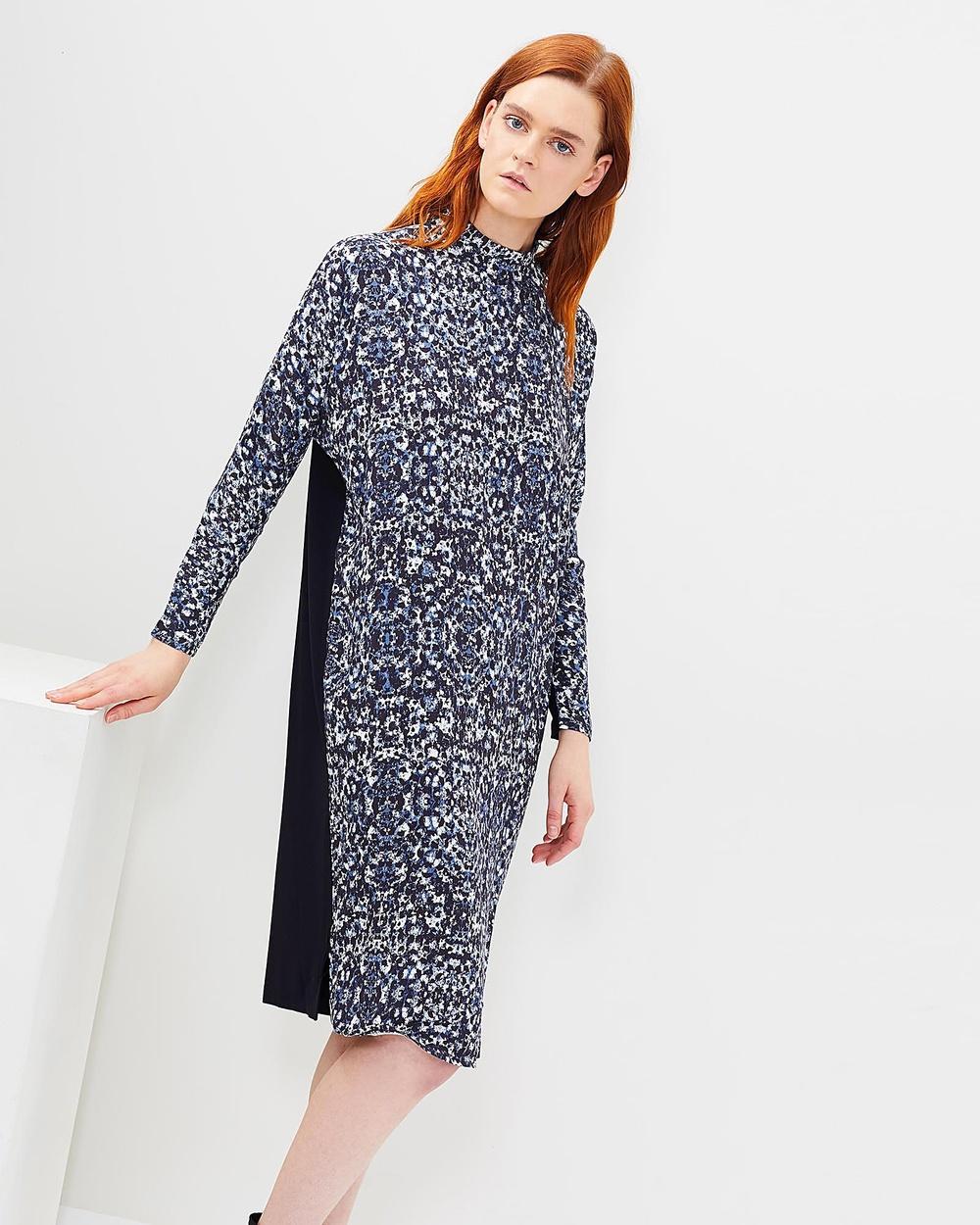 SABA Seafoam Dress Printed Dresses Multi Seafoam Dress