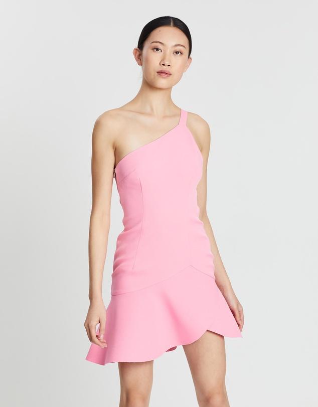 72d3e7a2ea3c1  Asymmetric Tulip Mini Dress