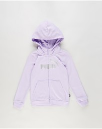 Puma - Essential Logo Full Zip Hoodie - Kids-Teens