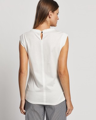 Marcs Gathered Neck Top - Tops (White)