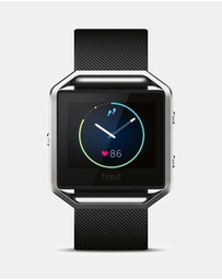 Fitbit - Fitbit Blaze Watch - Black/Silver