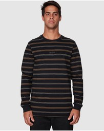 RVCA - Merc Stripe Long Sleeve Tee
