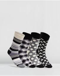 Happy Socks - Black & White Gift Box