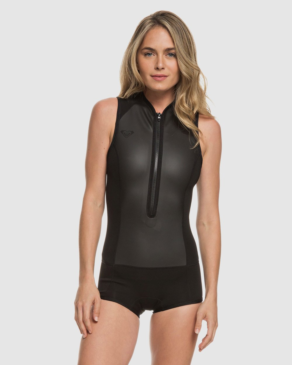 Womens 1mm Satin Front Zip Short John Springsuit Wetsuit by Roxy Online  15c763368