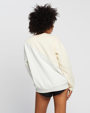 P.E Nation First Position Sweat - Crew Necks (Pearled Ivory)