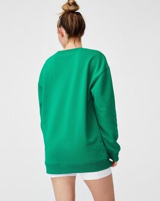 Cotton On Body Active Wellness Fleece Crew Necks (Golf Green)