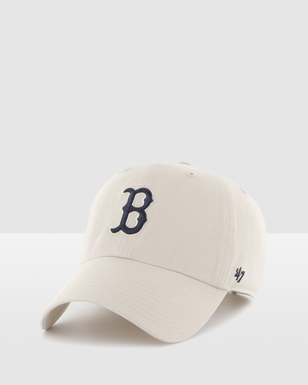 47 Boston Red Sox Bone Navy '47 CLEAN UP Headwear Nude Bone-Navy