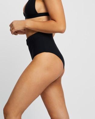 Faithfull The Brand Goa Bottoms - Bikini Bottoms (Plain Black)