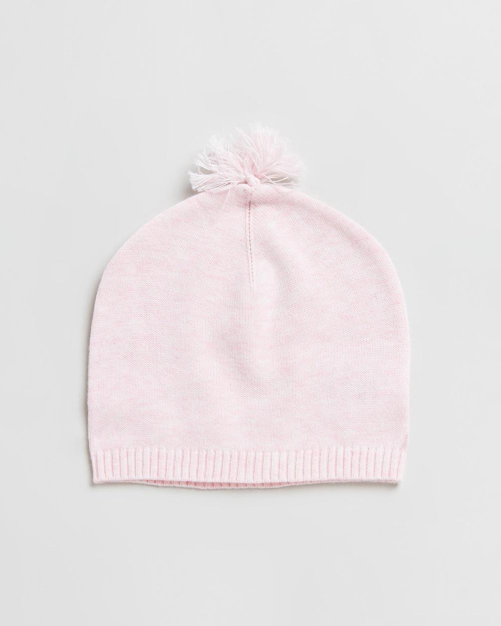 Purebaby Essentials Newborn Beanie Babies Headwear Pale Pink