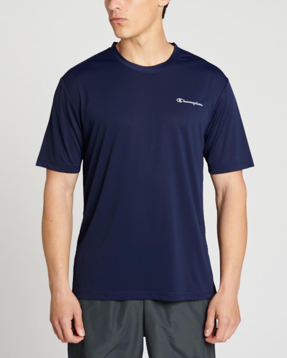 Champion Performance Micro Tee Short Sleeve T-Shirts Navy Australia