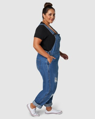 Indigo Tonic Darcy Distressed Overalls - Jumpsuits & Playsuits (Blue)