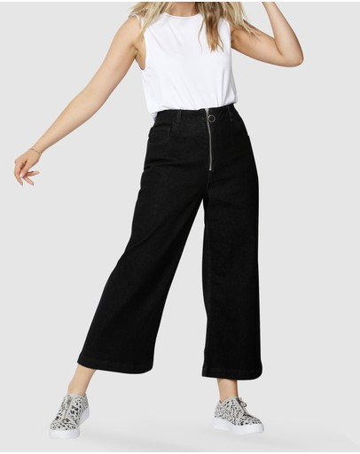 Betty Basics - Drew Wide Crop Jeans